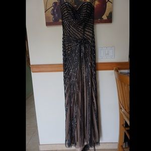 Jovani Black Sequin Dress- Size 4